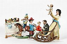 [Games and toys]. Lot of 6 chromolithogr. stand-up figures with several pro