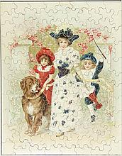 [Games and toys]. (Four jigsaw puzzles). Vienna, A. Pichler(...)(?), n.d. (