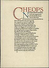 [Zilverdistel]. Leopold, J.H. Cheops. The Hague, De Zilverdistel, 1916, 1st