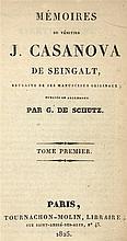 Casanova, G. Mémoires du vénitien Casanova de Seingalt. Vol. 1-10. Paris/ B