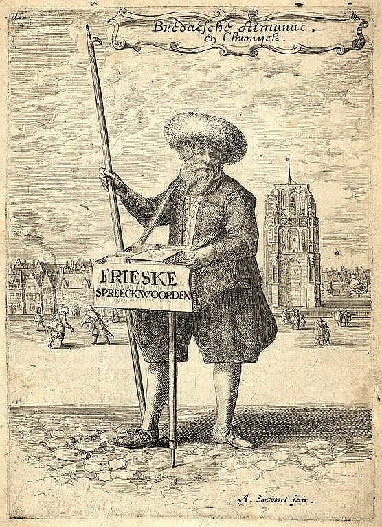[Breda]. (Vliet, J. van). Bredaesche Almanac, en Chronijck.