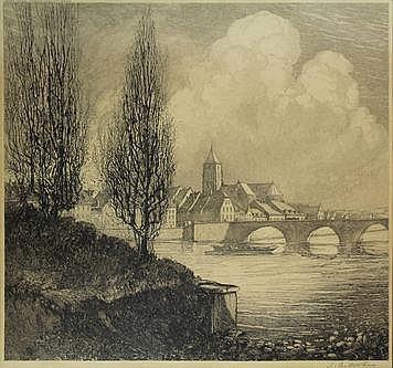 Veldheer, J.G. (1866-1954). (View of Maastricht).