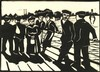 Oepts, W.A. (1904-1988). (Ferry). Woodcut, 22,8x31,5 cm., signed