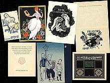 [Ephemera]. Lot of ±100 typographical ephemera, 1900-1950, various techniqu