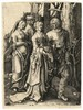Wierix, J. (1549-1615). Two couples in the forest. Engraving after L. VAN L, Johan (1549) Wierix, €80