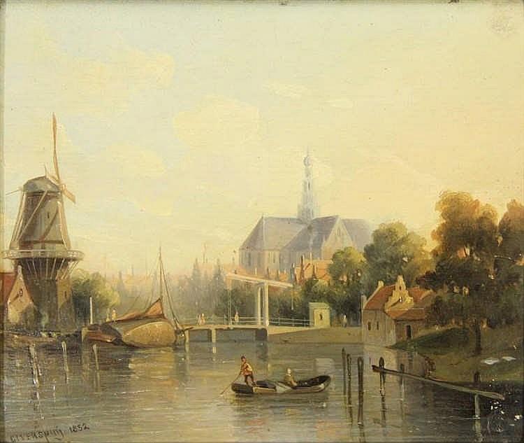 [Haarlem and surroundings]. Verspuy, G.J. (1823-1862). (View of the Grote K