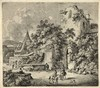 Kobell, F. (1740-1799). (People outside a city gate). Etching from a series, Ferdinand Kobell, €70
