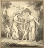 Dubourg, L.F. (1693-1775) (attrib.). (Allegorical scene with two female fig, Louis Fabricius Dubourg, Click for value