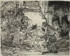 Rembrandt van Rijn (1606-1669). The adoration of the shepherds: with the la,  Rembrandt, €300