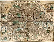 [Great Britain. London]. Philips' New Map of London. Extending Four and a H