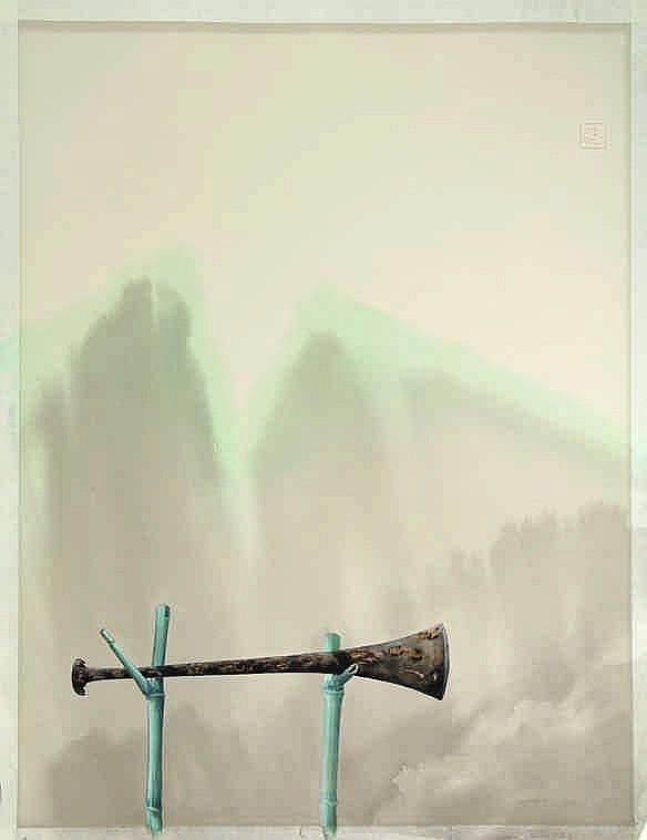 Bakker, S. (b.1943). De beitel. Watercolour, 62,5x48,5 cm., signed
