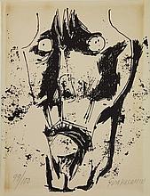 Guayasamin, O. (1919-1999). (Face). (Face). Lithograph, 28,2x22 cm., signed