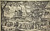 Bolswert, B.A. (1580-1633). Large village fair before a castle. Etching after D. VINCKBOONS, 43,5x69 cm.,