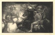 Aarts, J.J. (1871-1934). Apocalypsis. De vier ruiters. Lithograph, 20,3x33