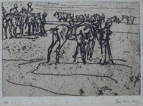 Breitner, G.H. (1857-1923). Rustende cavalerie.