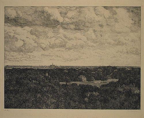 Haverkamp, G.C. (1872-1926). Gezicht op Haarlem