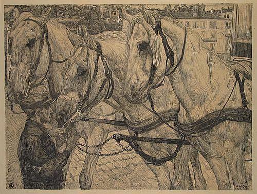 Dupont, P. (1870-1911). Garcon d'ecurie. Etching,
