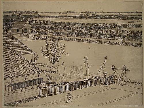 Haverkamp, G.C. (1872-1926). Gezicht in moestuinen