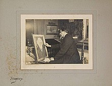 [Art]. Toorop, J.Th. (1858-1928). Two photogr.