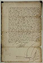 Medici, Catharina de' (1519-1589). AUTOGRAPH