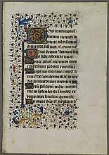 [Medieval manuscripts]. Manuscript leaf, 15th