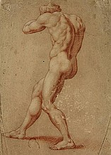Anonymous (first half 18th cent.). (Muscular male
