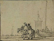 Anonymous (17th cent.). (Beach scene with two men