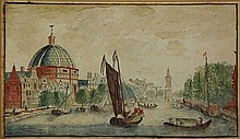[Amsterdam]. Anonymous (18th cent.). (View of the