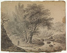 Anonymous (18th cent.). (Forest landscape with a