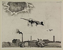Berserik, H. (1921-2002). (Two planes flying over