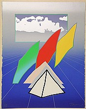 Benjamin, A. (1931-2002). Blue Parallax. Col.