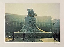 Christo (b.1935). Wrapped monument to Vittorio