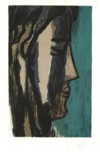 Favre, L. (1892-1956). (Male portraits). Nine colour lithographs (incl. duplicates), each 22x14 cm.