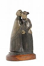 "Mendes da Costa, J. (1863-1939). ""De Doove"". Sculpture, grès ceramic, 21x12x6 cm., monogram (on the"