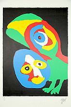 Appel, C.K. (1921-2006). (Two-headed figure).
