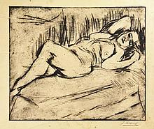 Altink, J. (1885-1971). (Reclining female nude).