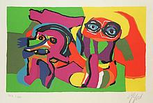Appel, C.K. (1921-2006). (Two figures). Colour