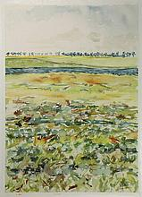 Manders, F. (b.1939). (Landscape with fence).