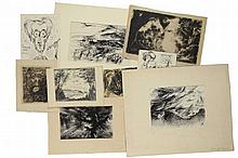 Markgraf, F. (1894-1987). Lot of ±50 drawings, in