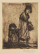 Mieghem, E. van (1875-1930). (Girl with a basket