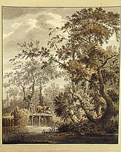 Noorde, C. van (1731-1795). (Forest landscape with