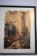 Antique New York Times Cover, October 1919. Framed