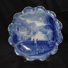 Victorian Flow Blue Plate
