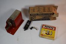 Vintage Minature Movie Camera with Popey Movie