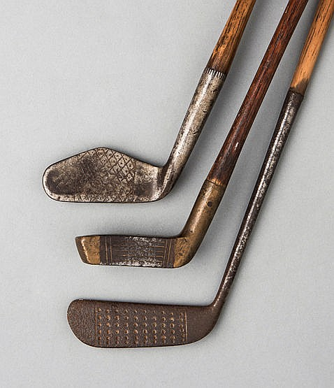 W G Oke of Fulwell 'illegal' putter, with 7 1/4in. hosel; sold togeth