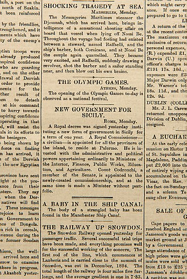 Five issues of English newspapers carrying reports of the revival of t