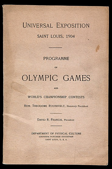 Scarce St Louis 1904 Olympic Games programme,  containing details & sc