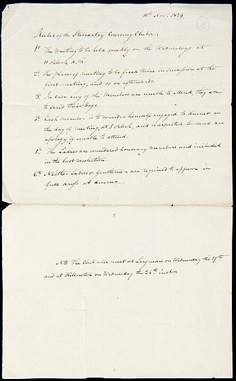 Manuscript setting forth the Rules of the Stewartry Coursing Club date