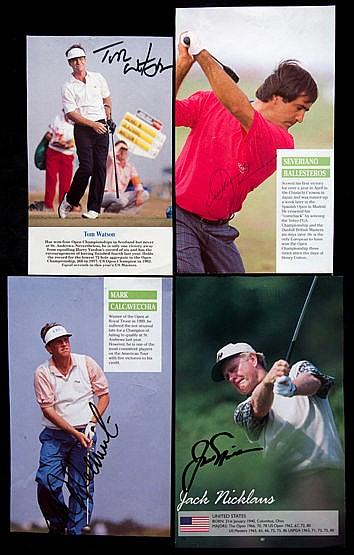 26 signed magazine pictures of golfers,  Aoki, Couples, Zoeller, Playe