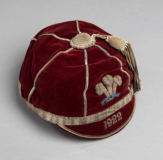 Wales Rugby League International cap 1922, the inside label inscribed